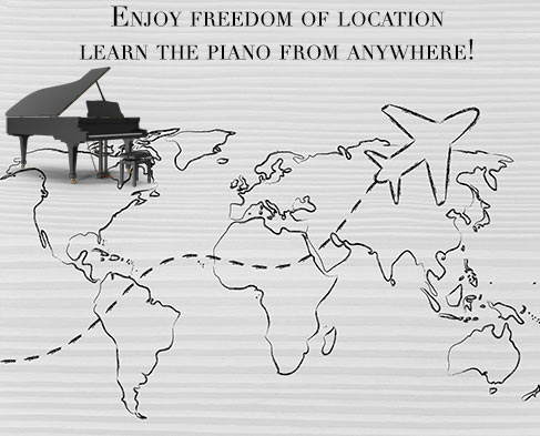 Learn the piano from everywhere on the planet