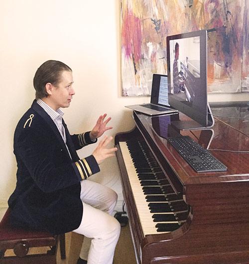 Stefan Joubert teaching via Skype