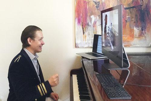 Piano lesson via Facetime